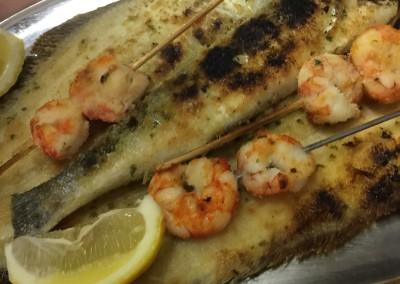 La cucina di pesce alla Pensione Jole a Cervia