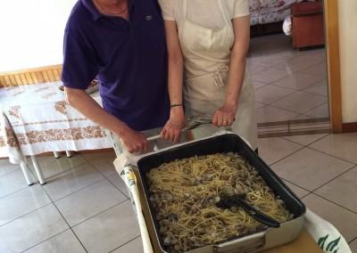 Spaghetti alla vongole Pensione Jole Cervia