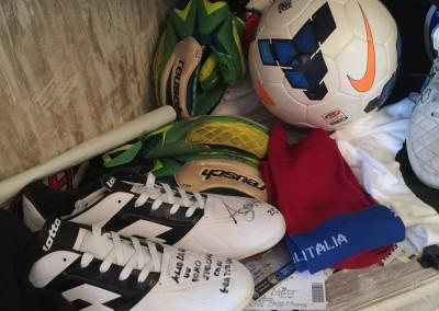 Gli amici calciatori della Pensione Jole a Cervia